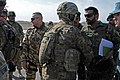 Afghan National Army 205th Corps leader welcomes ISAF Joint Command leader to FOB Eagle DVIDS508594.jpg