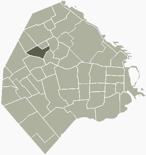 Agronomía - Image: Agronomia Buenos Aires map