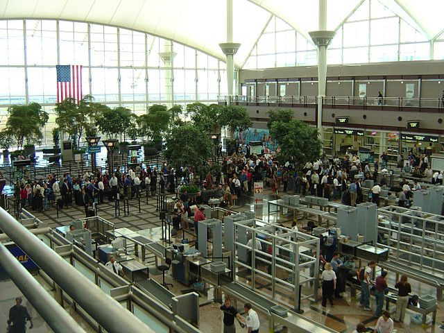 Airport Security Lines at an aiport in the United States