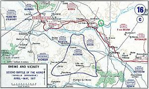 Second Battle of the Aisne - Chemin des Dames and Champagne, 1917