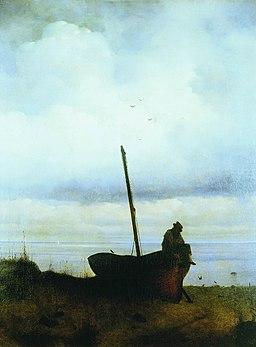 Aivazovsky - View to the sea coast near St. Petersburg