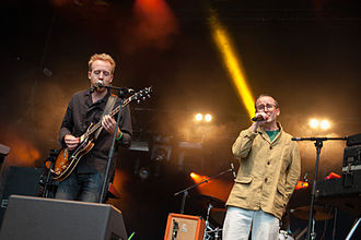 Hot Chip - Al Doyle and Alexis Taylor at Popaganda Music Festival 2013 in Stockholm, Sweden