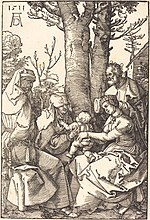 Albrecht Dürer, The Holy Family with Joachim and Anne under a Tree, 1511, NGA 6795.jpg