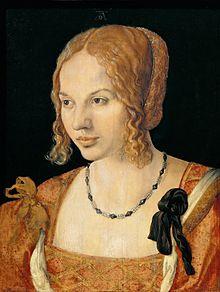 Ritratto di giovane veneziana-1505-Albrecht Durer
