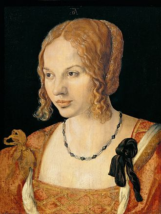 Portrait of a Venetian Woman - Portrait of a Young Venetian Woman, 1505. Kunsthistorisches Museum, Vienna. 35 x 26 cm.