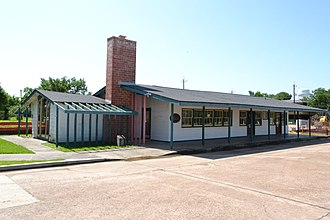 National Register of Historic Places listings in Brazoria County, Texas - Image: Alden B Dow Office, Lake Jackson, TX