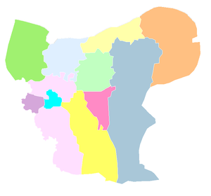 Aleppo blank districts 2009.png