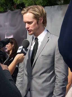 Alexander Skarsgard at True Blood premiere party