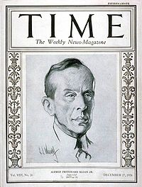 Alfred P. Sloan on the cover of TIME Magazine, December 27, 1926.jpg