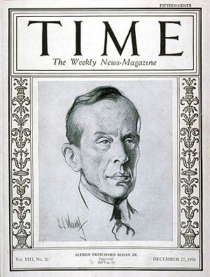 Alfred P. Sloan - Cover of Time magazine (December 27, 1926)