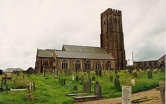 North Molton - All Saints' Church, North Molton, viewed from north