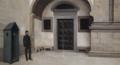Almeida Garrett de sentinela à porta do Convento dos Grilos, durante o cerco do Porto.png