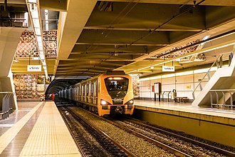 Line H (Buenos Aires Underground) - 300 Series train at Córdoba station