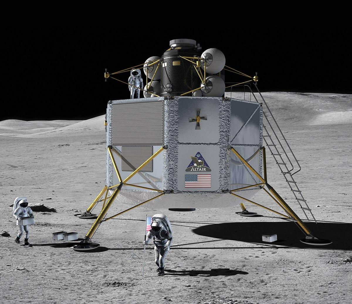 rocket landing on moon - photo #3