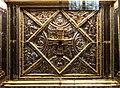 Altare di s. ambrogio, 824-859 ca., lato sx di vuolvino, angeli e santi che adorano la croce gemmata 01.jpg