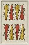 Aluette card deck - Grimaud - 1858-1890 - Eight of Clubs.jpg