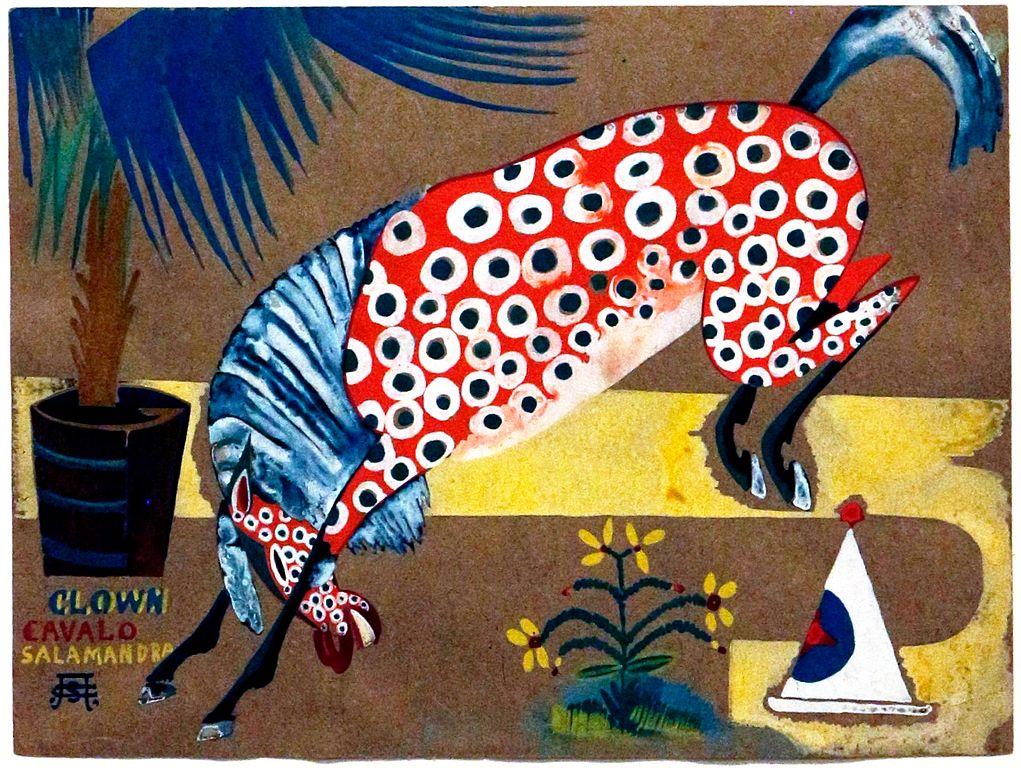 """Amadeo de Souza Cardoso """"Clown, Horse, Salamander"""" au musée Calouste Gulbenkian à Lisbonne."""
