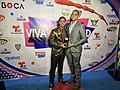 Amado Suarez and artirst Jearmony at Premios Viva La Juventud.jpg