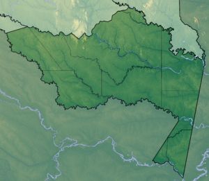 Amazonas Department - Image: Amazonas Topographic 2