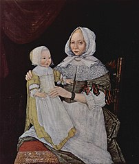 Portrait of Elizabeth Clarke Freake (Mrs. John Freake) and Baby Mary