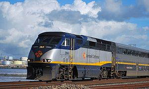 Capitol Corridor - A Capitol Corridor train in January 2010