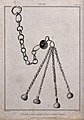 An instrument of torture, similar to a mace, with four metal Wellcome V0041755.jpg