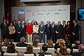 Ana Botella, Alejandro Blanco y doña Pilar de Borbón junto a los miembros representantes de Foro Madrid. (8640499391).jpg