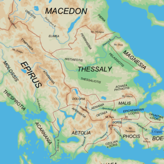 Regions of ancient Greece - Ancient Regions of West Central, North and West Greece.