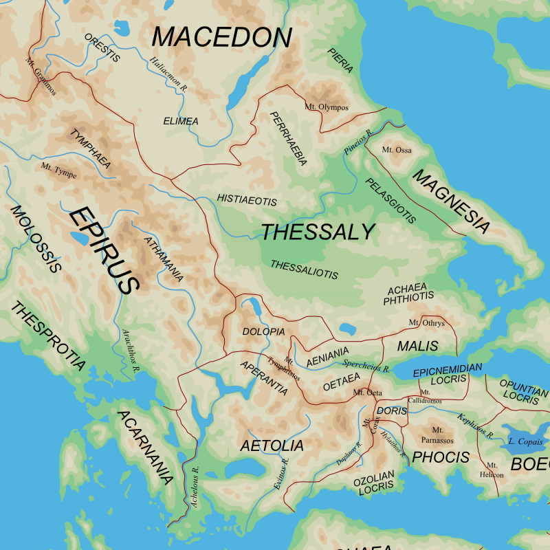 Ancient Regions North and West Greece