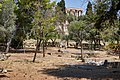 Ancient ruins in the area under the Temple of Zeus in Athens on August 21, 2020.jpg