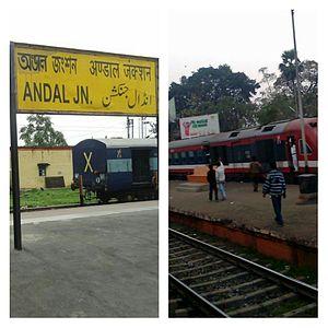 Andal–Sainthia branch line - Andal railway station and Sainthia railway station