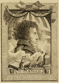 André-Jacques Garnerin French balloonist and inventor of the frameless parachute