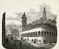 Andreas Ludvig Søborg - Christiania Bazarer (Slagterboder) og Brandvagtsbygning - 1860 - Oslo Museum - OB.02751 (cropped).jpg
