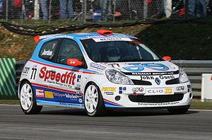 Andrew Jordan (racing driver) - Jordan competing in the 2007 Clio Cup UK season.