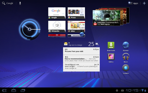 Android Honeycomb - Image: Android 3.0