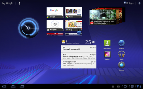 Android 3.0 界面