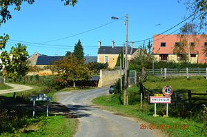 Angoville, Calvados - Image: Angoville Entry