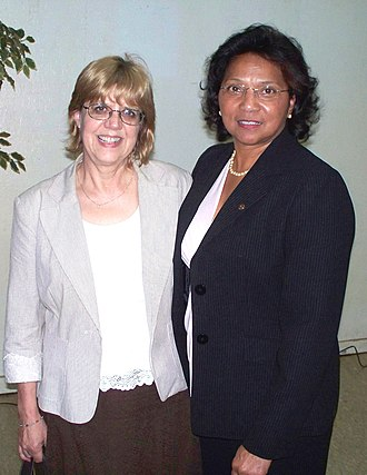Tangipahoa Parish School Board - Ann Alexander Smith (right) is a retired teacher, coach, principal of Kentwood High School, and Tangipahoa Parish School System supervisor. In 2007 she was elected to represent District A on the Tangipahoa Parish School Board. Here she is shown with Southeastern Louisiana University instructor Dr Birgitta Ramsey. Smith was guest of honor for the 2011 Governor's Cup Banquet of the Kentwood Rotary Club, of which she is a former president.