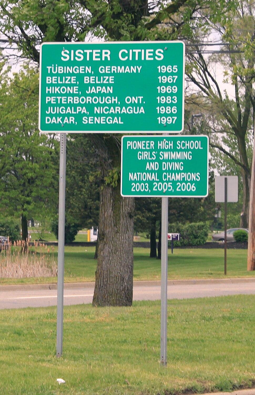 Ann Arbor Sister Cities Sign