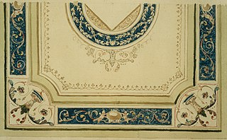 Design for a decorative detail of a ceiling
