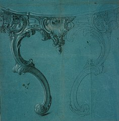 Design for a console table in Louis XV style