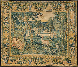 Tapestry - Anonymous, Forest scene with Caphalus and Procris, Collection King Baudouin Foundation