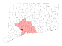 Location in New Haven County, کنتیکت