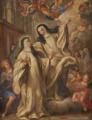 Aparição da Beata Sancha à Beata Teresa, sua irmã - séc. XVIII (segundo original de Giovanni Odazzi).png