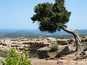 Porto-Vecchio - View from the Bronze Age citadel at Araghju
