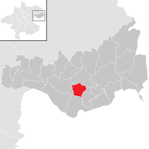 Location of the municipality of Arbing (Upper Austria) in the district of Perg (clickable map)