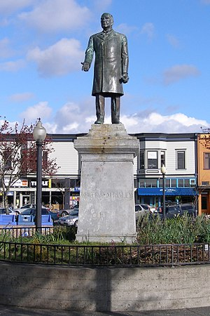 William McKinley statue (Patigian) - The statue of President William McKinley on the Plaza in Arcata, California.