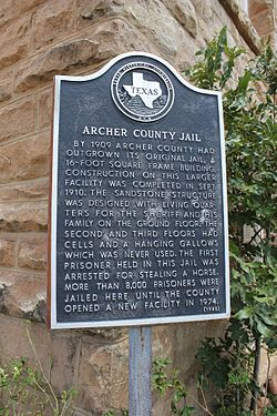 Archer county jail, archer city, texas historical marker (8409419811)