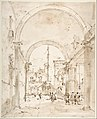 Architectural Capriccio- Grand Staircase Seen through an Archway MET DP810116.jpg