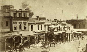 The Argus (Melbourne) - The Argus office, at 76 Collins Street East, Melbourne, 1867.
